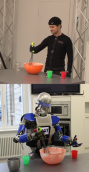 Human Demonstration and Robot Reproduction
